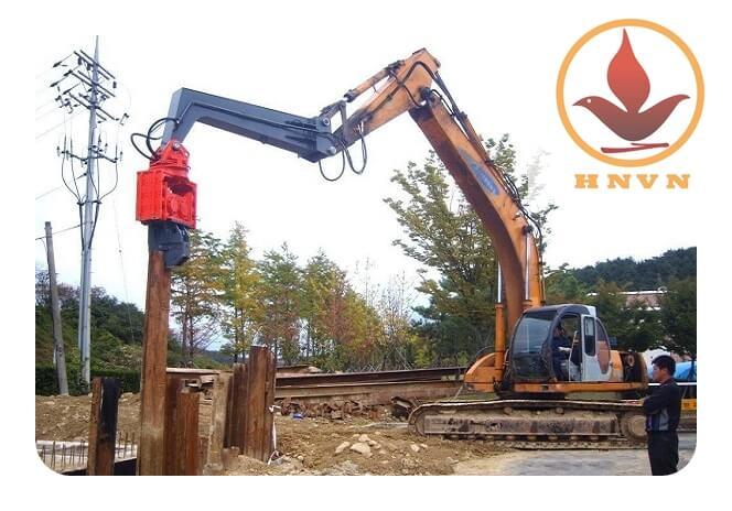 Búa rung điện trong xây dựng công trình giao thông