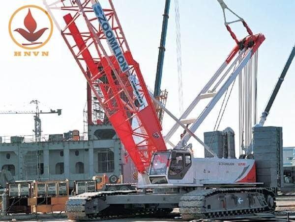 Xe cẩu bánh xích Zoomlion QUY80 trọng tải 80 tấn