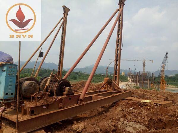 Cho thuê máy giã đá JK8, JK10 tại dự án cầu Tình Húc, Tuyên Quang-1