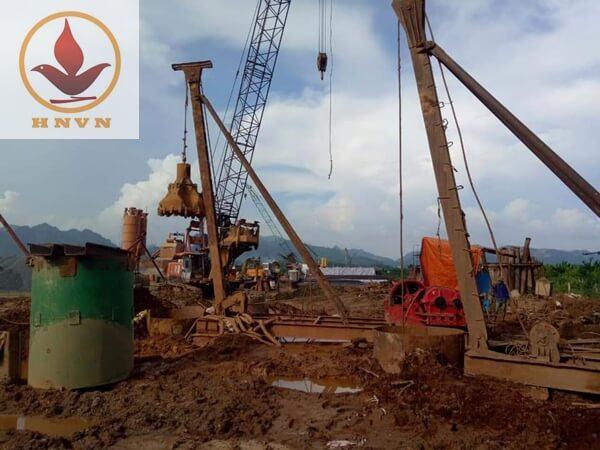 Cho thuê máy giã đá JK8, JK10 tại dự án cầu Tình Húc, Tuyên Quang