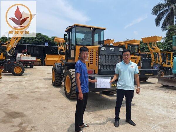 Bán xúc lật JF939G gầu 1,5 m3 cho khách hàng Bắc Ninh