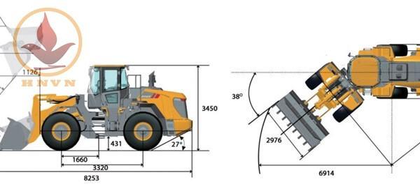 Máy xúc lật LiuGong CLG856H gầu 3m3 đến 4.7m3-7