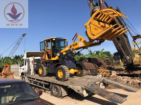 Bàn giao máy xúc lật JF928 đi Bắc Mê, Hà Giang-3