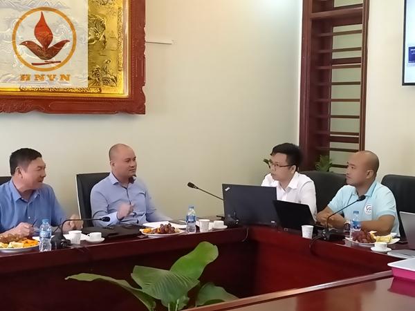 Buổi họp giao lưu giữa công ty cổ phần Vietko VP và công ty TNHH Hanoi Vietnam-1