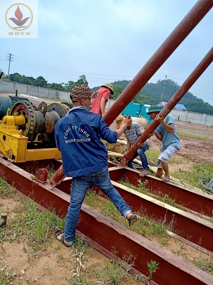 Dự án thi công giếng giảm áp cho nhà máy sản xuất thép - Thái Nguyên