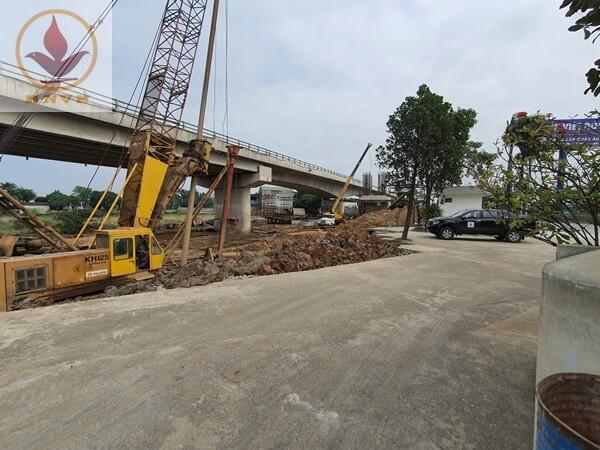 Thi công cọc khoan nhồi cầu vượt Mai Sơn Ninh Bình (Km265+090 - Km273+125)-1